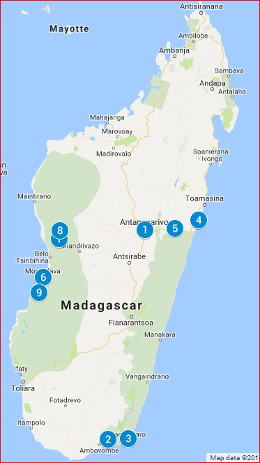 Reiseroute: Madagaskar Fotoreise