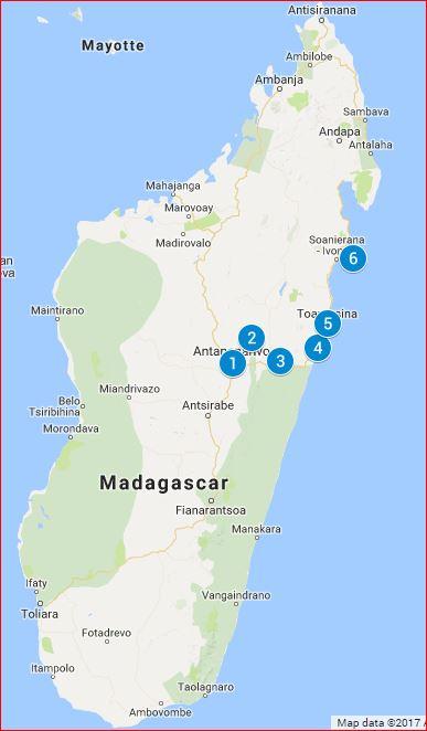 Reiseroute: Inselparadies Madagaskar