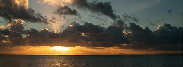 Sonnenuntergang auf Sainte Marie