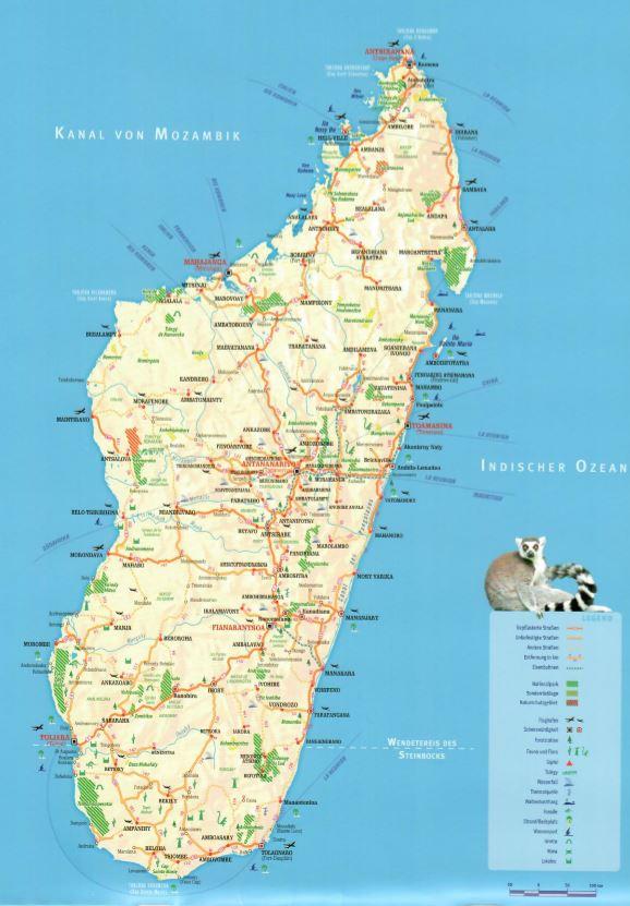 Karte-Madagaskar