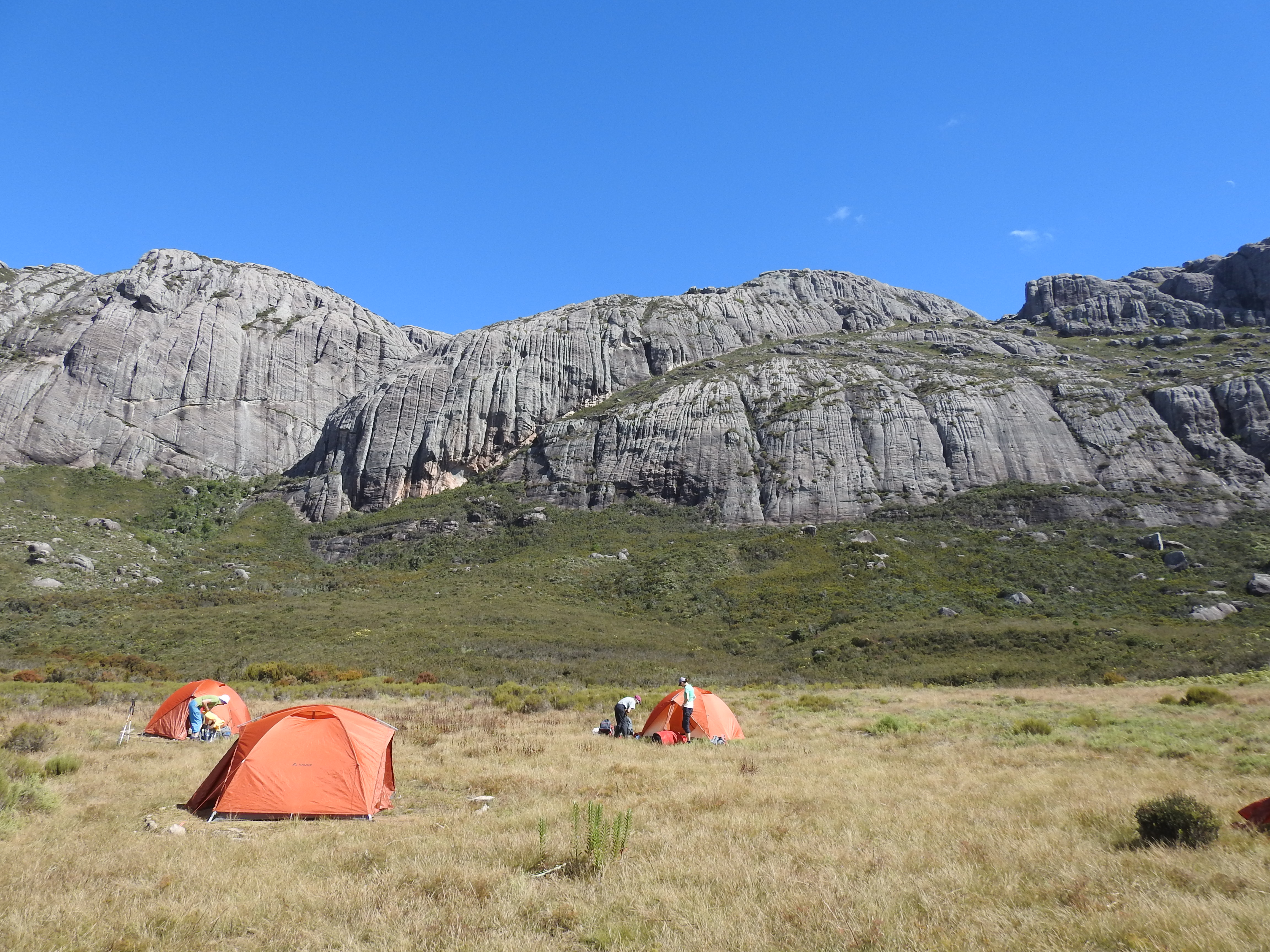 Camp im Andringitra Gebirge - Trecking zum Pic Boby