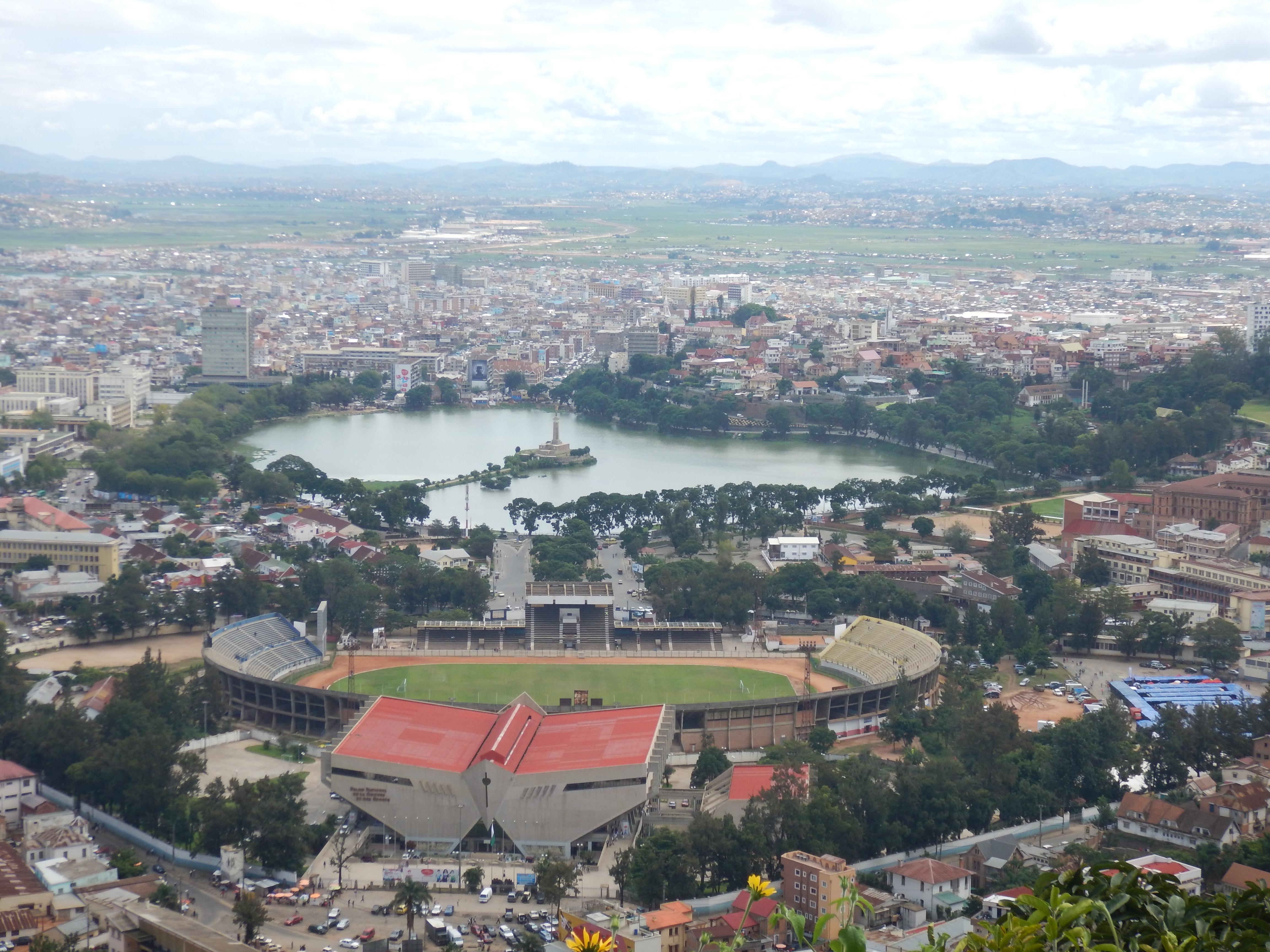 Der herzförmige Anosi See in Antananarivo