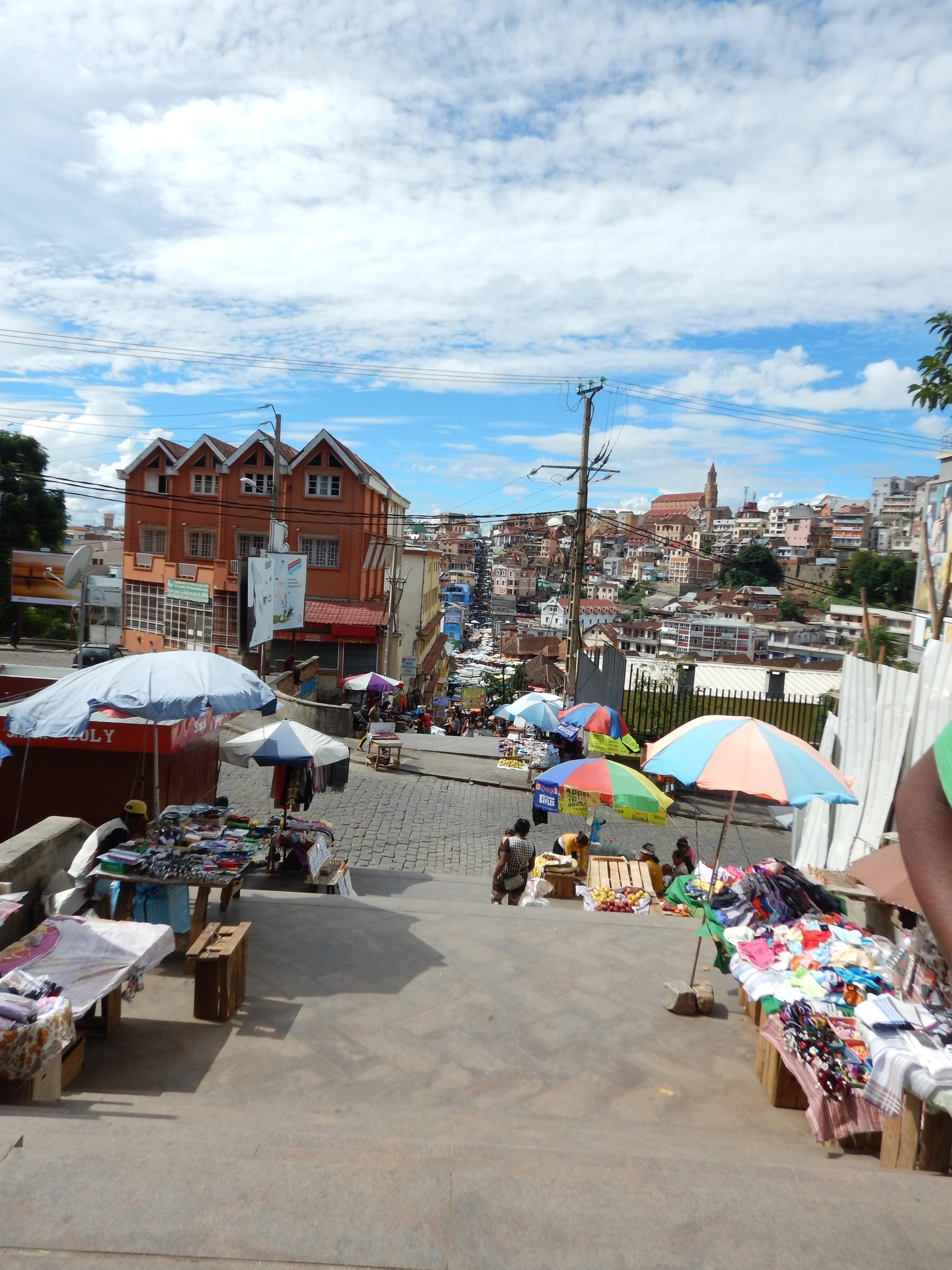 Ausblick von der Oberstadt Antananarivo