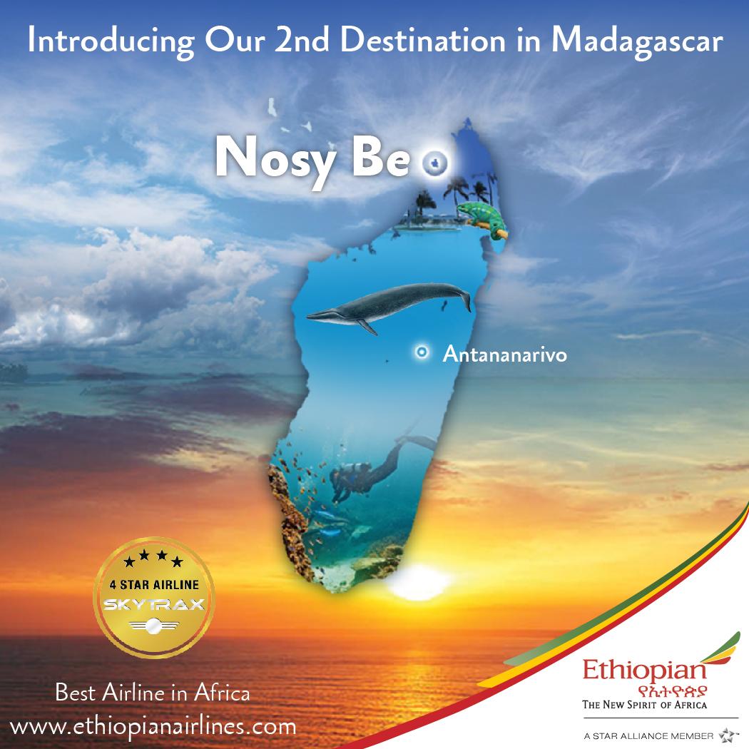 mit Ethiopian Airlines nach Nosy Be